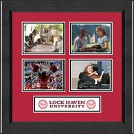 Lock Haven University Photo Frame - Lasting Memories Quad Collage Photo Frame in Arena