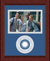 Colby College Photo Frame - Lasting Memories Circle Logo Photo Frame in Sierra