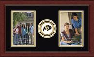 University of Colorado Boulder Photo Frame - Lasting Memories Double Circle Logo Photo Frame in Sierra