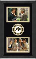 University of Colorado Boulder Photo Frame - Lasting Memories Double Circle Logo Photo Frame in Arena