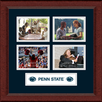Pennsylvania State University Photo Frame - Lasting Memories Quad Banner Photo Frame in Sierra