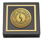 Saint Paul College Paperweight - Gold Engraved Paperweight