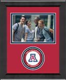 The University of Arizona Photo Frame - Lasting Memories Circle Logo Photo Frame in Arena
