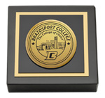 Brazosport College Paperweight - Gold Engraved Medallion Paperweight