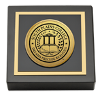 South Plains College Paperweight - Gold Engraved Medallion Paperweight