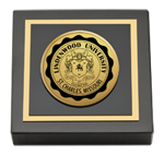 Lindenwood University Paperweight - Gold Engraved Paperweight