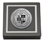 New Mexico Institute of Mining & Technology Paperweight - Silver Engraved Paperweight