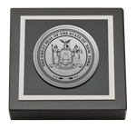 State of New York Paperweight - Silver Engraved Medallion Paperweight