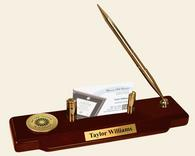New York Institute of Technology Desk Pen Set - Gold Engraved Medallion Desk Pen Set