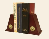 New York Institute of Technology Bookends - Gold Engraved Medallion Bookends