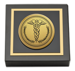 Medical School Diploma Frames and Gifts Paperweight - Gold Engraved Medallion Paperweight