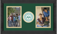 Slippery Rock University Photo Frame - Lasting Memories Double Circle Logo Photo Frame in Arena