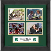 Slippery Rock University Photo Frame - Lasting Memories Quad Collage Photo Frame in Arena