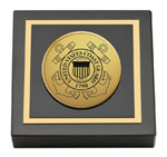 United States Coast Guard Paperweight - Gold Engraved Medallion Paperweight