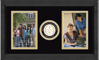 West Virginia State University Photo Frame - Lasting Memories Double Circle Logo Photo Frame in Arena
