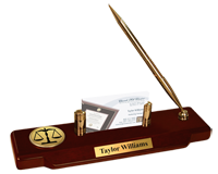 Legal Diploma Frames and Gifts Desk Pen Set - Gold Engraved Medallion Desk Pen Set