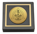 Dentistry Diploma Frames and Gifts Paperweight - Gold Engraved Medallion Paperweight