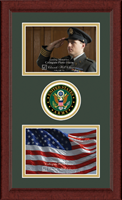 United States Army Photo Frame - Army Lasting Memories Double Circle Logo Photo Frame in Sierra