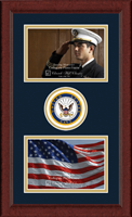 United States Navy Photo Frame - Lasting Memories Double Circle Logo Photo Frame in Sierra