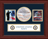 United States Navy Photo Frame - Lasting Memories Banner Collage Photo Frame in Sierra