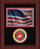 United States Marine Corps Photo Frame - Lasting Memories Circle Logo Photo Frame in Sierra
