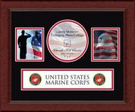 United States Marine Corps Photo Frame - Lasting Memories Banner Collage Photo Frame in Sierra