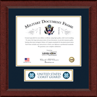United States Coast Guard Banner Frame - Lasting Memories Certificate Banner Frame in Sierra
