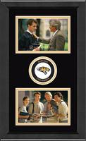 Towson University Photo Frame - Lasting Memories Double Circle Logo Photo Frame in Arena