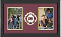 Bloomsburg University Photo Frame - Lasting Memories Double Circle Logo Photo Frame in Arena