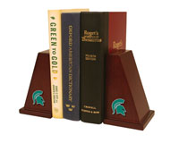 Michigan State University Bookends - Spirit Medallion Bookends