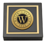 Walsh College Paperweight - Gold Engraved Paperweight