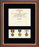 Medal Frames and Display Cases Diploma Frame - Military Certificate and Medal Display Frame - (Black) in Newport