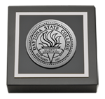 Daytona State College Paperweight - Silver Engraved Medallion Paperweight