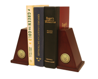 CIO University Bookend - Gold Engraved Medallion Bookends
