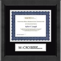 Mold Inspection Consulting and Remediation Organization Banner Frame - Certificate Edition Banner Frame in Arena