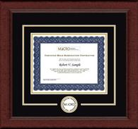 Mold Inspection Consulting and Remediation Organization Circle Logo Frame - Certificate Edition Circle Logo Frame in Sierra