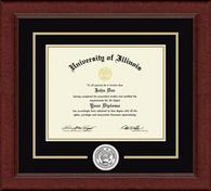 University of Illinois Diploma Frame - Lasting Memories Circle Logo Diploma Frame in Sierra