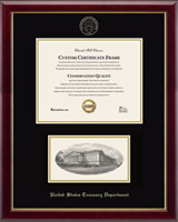 United States Treasury Department Certificate Frame - Embossed Edition Photo/Certificate Frame in Gallery