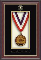 National Rifle Association of America Shadowbox Frame - Embossed Edition Shadowbox Frame in Studio Gold