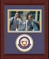 College of the Holy Cross Photo Frame - Lasting Memories Circle Logo Photo Frame in Sierra