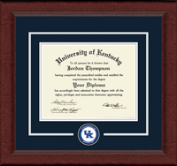University of Kentucky Diploma Frame - Circle Logo Edition Diploma Frame in Sierra