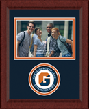 Gettysburg College Photo Frame - Lasting Memories Circle Logo Photo Frame in Sierra