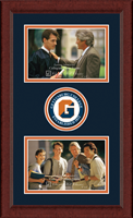 Gettysburg College Photo Frame - Lasting Memories Double Circle Logo Photo Frame in Sierra