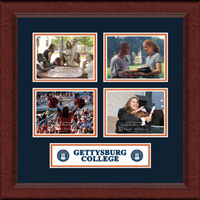 Gettysburg College Photo Frame - Lasting Memories Quad Collage Photo Frame in Sierra
