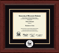 University of Wisconsin Oshkosh Diploma Frame - Lasting Memories Circle Logo Diploma Frame in Sierra