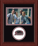 Southern Illinois University Carbondale Photo Frame - Lasting Memories Circle Logo Photo Frame in Sierra