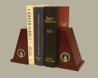 Cossatot Community College University of Arkansas Bookends - Gold Engraved Bookends