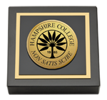 Hampshire College Paperweight - Gold Engraved Paperweight