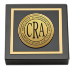 Research Administrators Certification Council Paperweight - Gold Engraved Paperweight