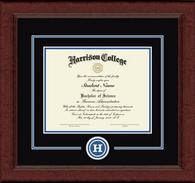 Harrison College Diploma Frame - Lasting Memory Circle Edition Diploma Frame in Sierra